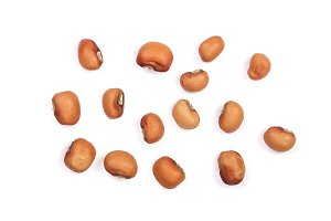 soybeans isolated on white background top view