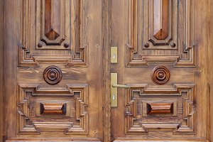 Retro wooden door 1