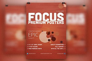 Focus Flyer-Posters (7 Colors)
