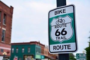 Bike trail sign.