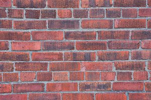 Red brick wall texture.