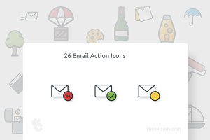 26 Email Action Outline Color Icon