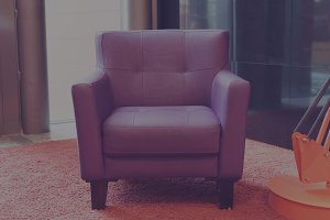 Purple armchair