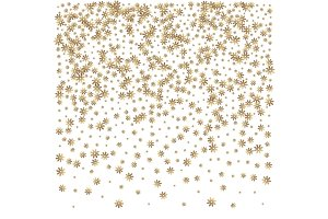 Christmas golden snowflake background.