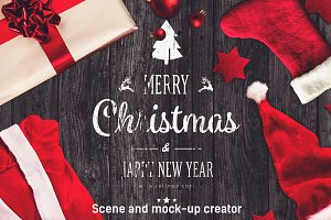 Christmas Scene /Mock-up Creator #2