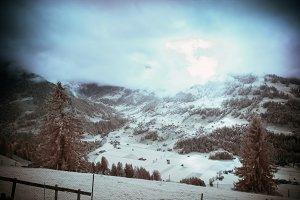 Infrared Alpine Landscape