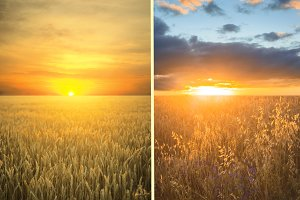 Summer sunset - set of 2 images
