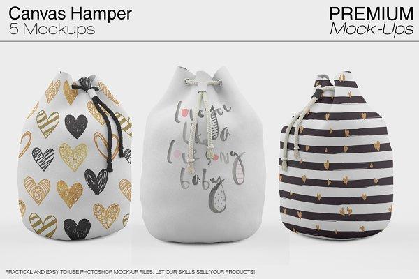 Canvas Hamper Mockups PSD Template - Free 44000+ Packaging