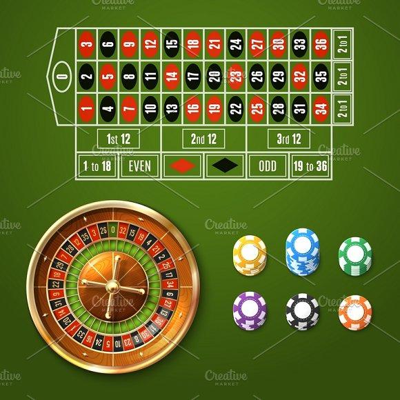Casino gambling set