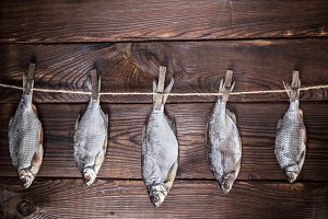 five dried salted fish ram