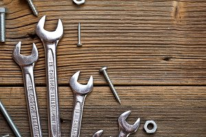 Stainless steel wrench set