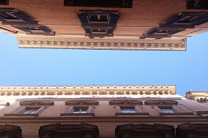 Italian Street Looking Upward
