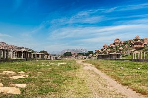 Ancient ruins of Hampi, India