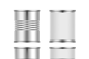 Different steel tin cans