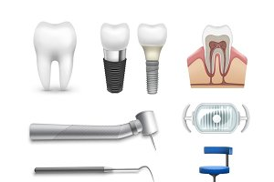 Different dental objects
