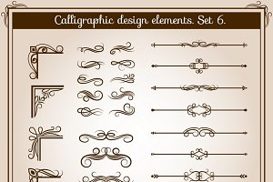 Retro flourish line dividers
