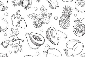 Healthy fruit seamless texture