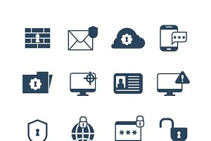Security web protection icons