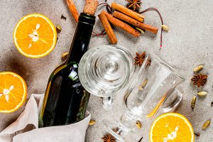 Set of ingredients for mulled wine