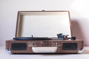Record Player on white Background
