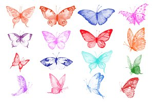 Photoshop Brush Watercolor Butterfly