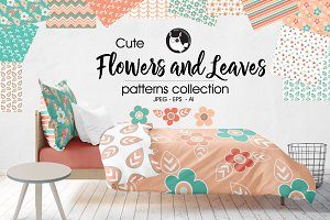 FLOWERS LEAVES Pattern collection