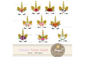 Flower Unicorn Clipart