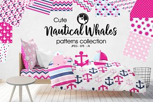 NAUTICAL WHALES Pattern collection