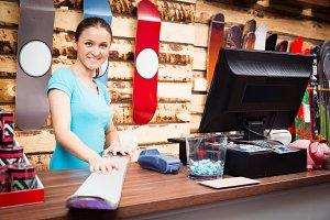 Salesperson In Ski Store