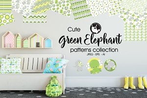 GREEN ELEPHANT Pattern collection