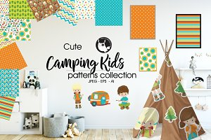 CAMPING KIDS Pattern collection