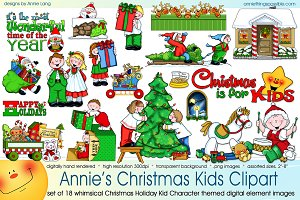 Annie's Christmas Kids Clipart