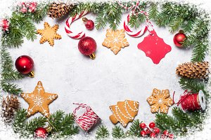 Christmas frame background.