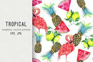 Tropical fresh vector pattern