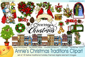 Annie's Christmas Traditions Clipart