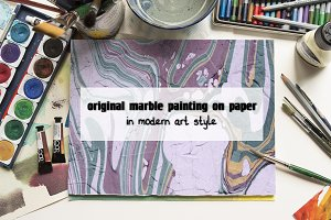 77 hand painted marble textures