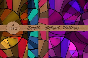 BRIGHT colors abstract patterns set