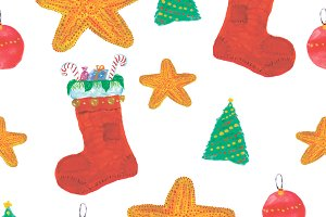 Christmas Watercolor Pattern