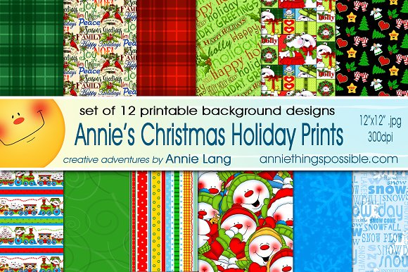 Annie's Christmas Holiday Prints