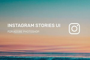 Instagram Stories UI for Photoshop