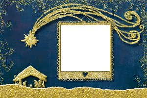 Christmas 1 photo frame card