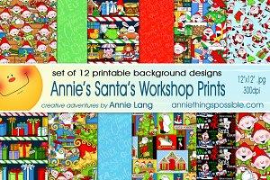 Annie's Santa's Workshop Prints