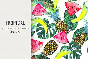 Tropical summer fresh pattern