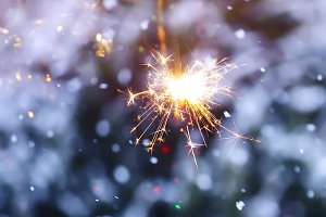 Bengali firework salute burst