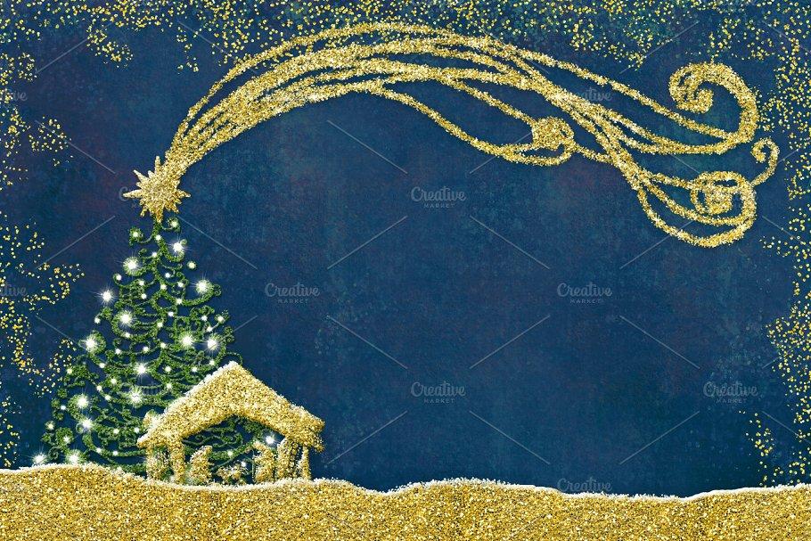 Christmas Nativity Scene postal card ~ Holiday Photos ~ Creative Market