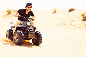Tourist Riding Quad Bike