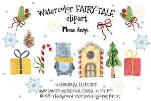 40%OFF Watercolor FAIRY-TALE clipart