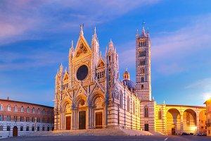 Siena Cathedral at sunrise, Tuscany, Italy