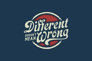Different Doesn't Mean Wrong