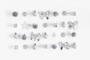 Christmas silver decorations
